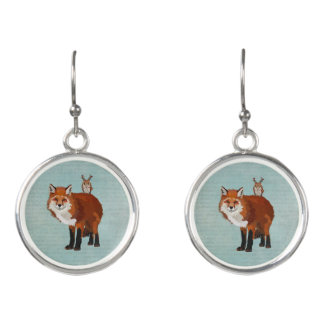 MARCH FOX & FLORAL ANTLER OWL EARRINGS