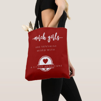 March Girls Are Sunshine Mixed With Hurricane Tote Bag
