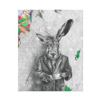 March Hare Art Canvas Alice in Wonderland Art