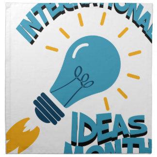 March - International Ideas Month Napkin