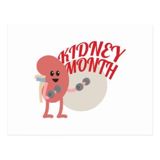 March - Kidney Month - Appreciation Day Postcard