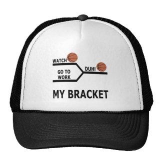 March Madness Basketball Funny Bracket T-Shirts Trucker Hats