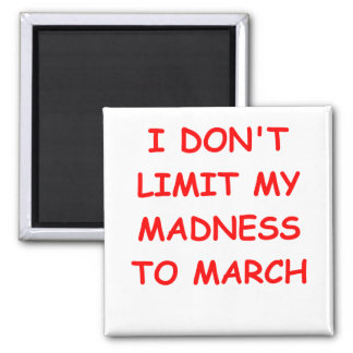 MARCH madness Square Magnet