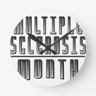 March - Multiple Sclerosis Month Round Clock