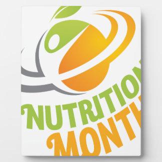 March - Nutrition Month Plaque