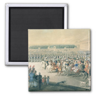 March of the Allied forces into Paris, 1815 Square Magnet
