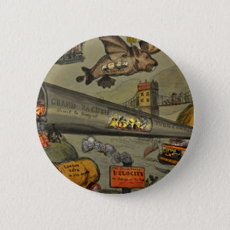 March of the intellect 6 cm round badge