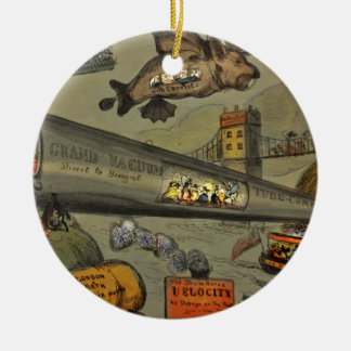 March of the intellect ceramic ornament
