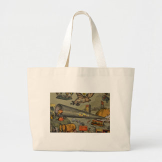March of the intellect large tote bag