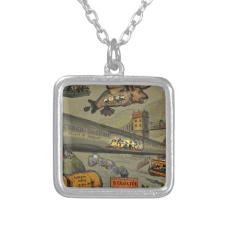 March of the intellect silver plated necklace