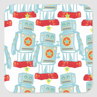 March of the robots square sticker