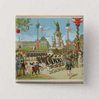 March-Past in the Place de la Republique 15 Cm Square Badge