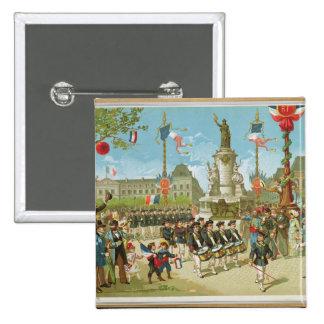 March-Past in the Place de la Republique 15 Cm Square Badge