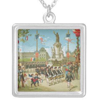 March-Past in the Place de la Republique Necklace
