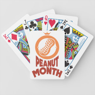 March - Peanut month - Appreciation Day Bicycle Playing Cards