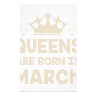 March Queen Stationery