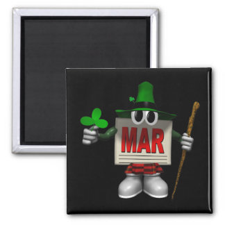 March Square Magnet