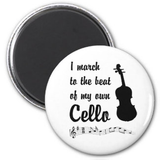March to the Beat: Cello 6 Cm Round Magnet