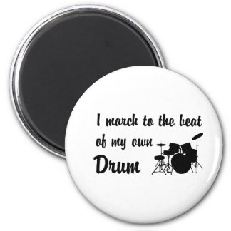 March to the Beat: Drum 6 Cm Round Magnet
