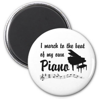 March to the Beat: Piano Magnets