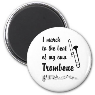 March to the Beat: Trombone 6 Cm Round Magnet
