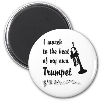 March to the Beat Trumpet Refrigerator Magnet