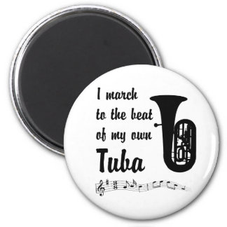 March to the Beat: Tuba 6 Cm Round Magnet