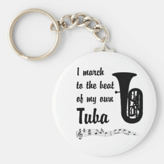 March to the Beat: Tuba Key Ring