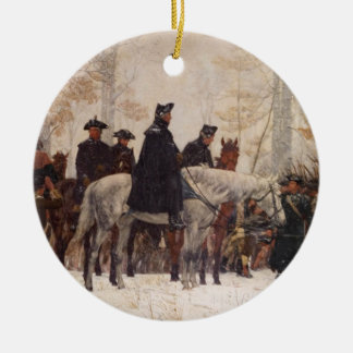 March to Valley Forge - William Trego  (1883) Ceramic Ornament