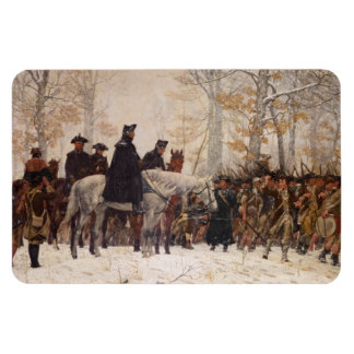 March to Valley Forge - William Trego  (1883) Rectangle Magnets