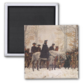 March to Valley Forge - William Trego  (1883) Square Magnet