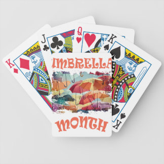 March - Umbrella Month - Appreciation Day Bicycle Playing Cards