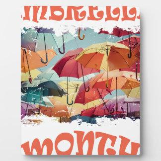 March - Umbrella Month - Appreciation Day Plaque