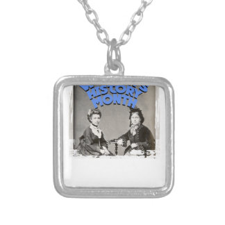 March - Women's History Month Silver Plated Necklace