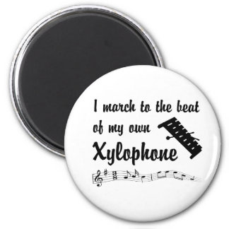 March: Xylophone 6 Cm Round Magnet