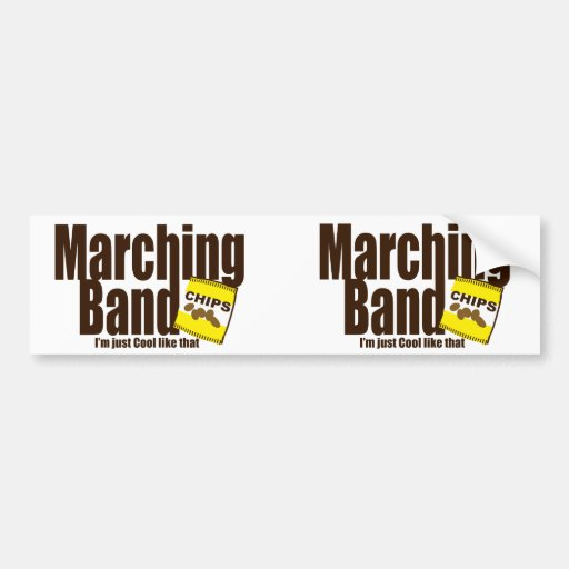 Marching Band and Chips Bumper Stickers