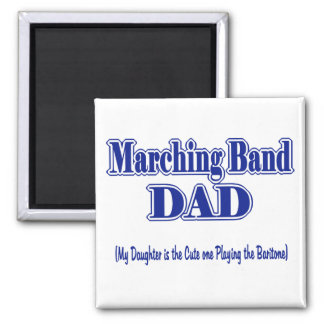 Marching Band Dad/ Baritone Square Magnet