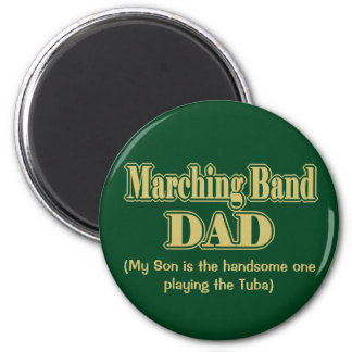 Marching Band Dad Clarinet Green Magnets