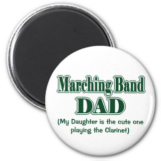 Marching Band Dad Clarinet Green 6 Cm Round Magnet
