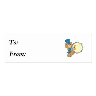 Marching Band Drummer Bear Business Card Template