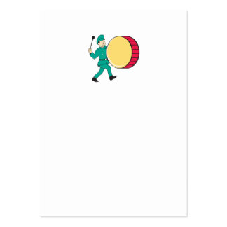 Marching Band Drummer Beating Drum Business Card