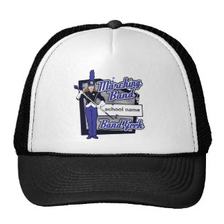 Marching Band Geek Blue Trucker Hats