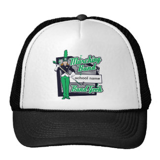 Marching Band Geek Green Trucker Hats