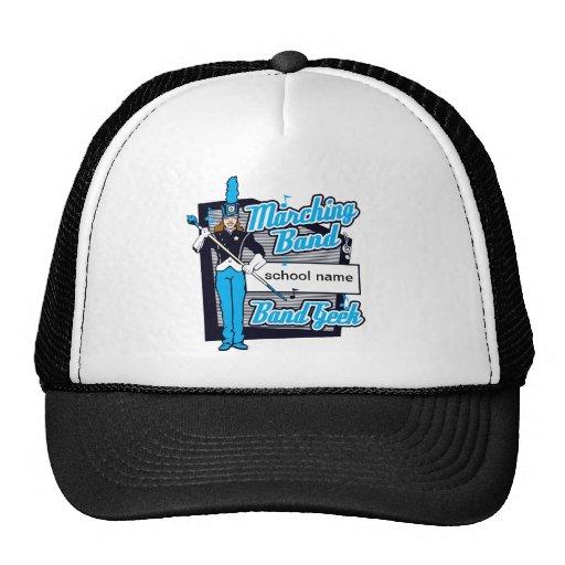 Marching Band Geek Light Blue Trucker Hat