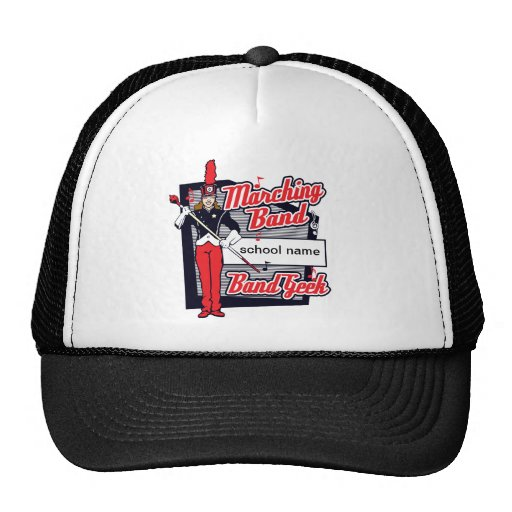 Marching Band Geek Red Trucker Hats