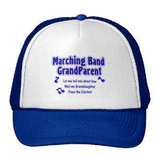 Marching Band Grandparent/ Clarinet Trucker Hats