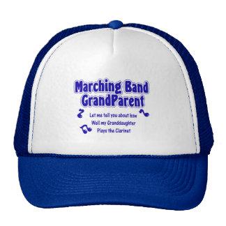 Marching Band Grandparent Clarinet Trucker Hats