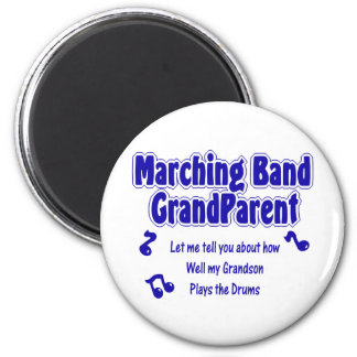 Marching Band Grandparent/ Drums 6 Cm Round Magnet