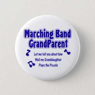 Marching Band Grandparent/ Piccolo 6 Cm Round Badge