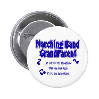 Marching Band Grandparent/ Saxophone 6 Cm Round Badge